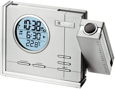 cool blue projection alarm clock with indoor temperature