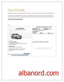 auto insurance template progressive insurance card template albanord