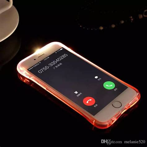 cheap tpu pc led flash light up remind incoming call cover for iphone xr xs max 8 plus