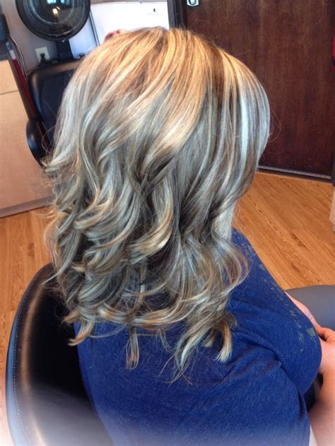 lowlights for brown graying hair blonde highlights brown lowlights curls hair by melissa