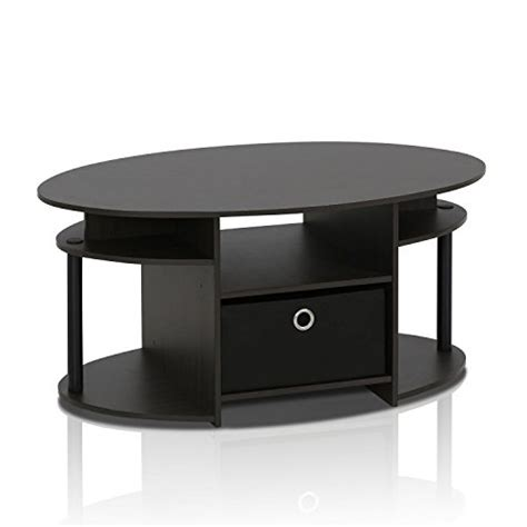Oval Coffee Tables With Storage Oval Design Coffee Table Shelves Storage Bin Living Room Home Furniture Desk New Ebay