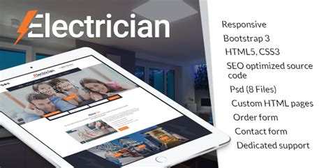 Website Templates 50 Per Cent Discount Sales 09 15 10 15 2017 Electrician Website Template
