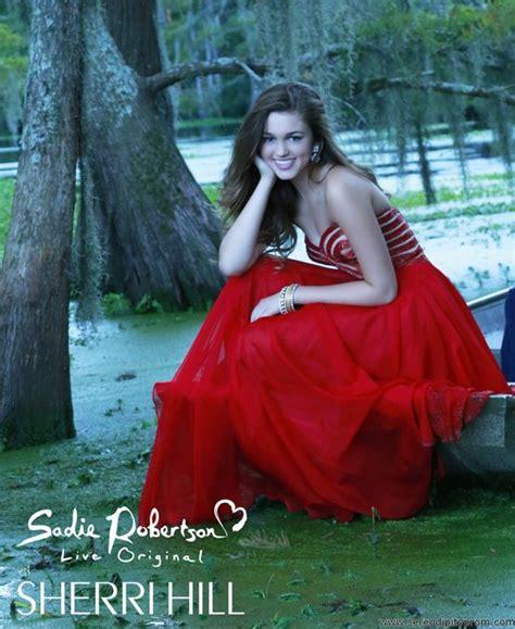 sadie robertson homecoming hair favorite sherri hill 11074 prom dress sadie robertson live