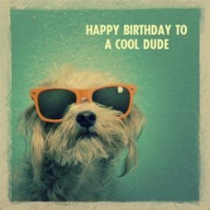 Dog Wearing Sunglasses Happy Birthday To A Cool Dude Card