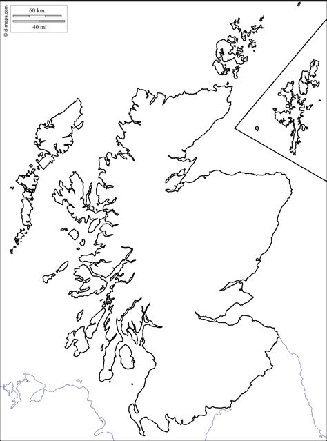 Scottish Outline by Scotland Free Map Free Blank Map Free Outline Map Free Base Map Coasts Limits White