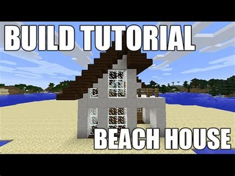 how to build a beach house in minecraft minecraft how to make beach house youtube