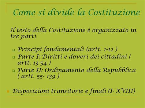 costituzione italiana testo la costituzione italiana ppt scaricare