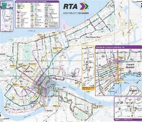 new orleans streetcar map rta system map picture of rta streetcars new orleans