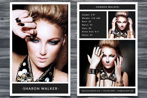 Comp Card Design Templates by Modeling Comp Card Templatev247 Flyer Templates Creative