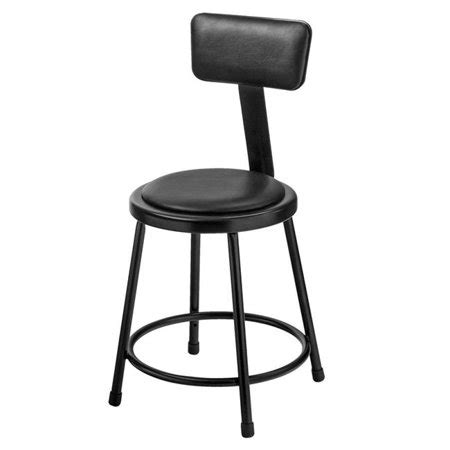 Padded Stool With Backrest by Black Padded Stool With Backrest 18 In Walmart