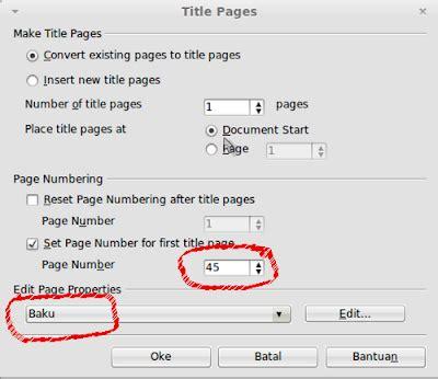 membuat nomor halaman secara otomatis membuat nomor halaman pada libreoffice writer secara