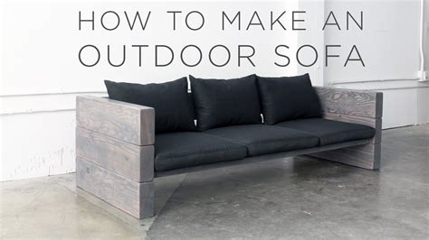how is a couch made how to make an outdoor sofa youtube