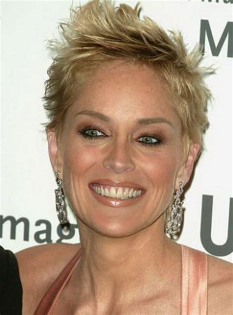 sharon stone most recent hairstyle celebrity short hairstyles sharon stone latest hairstyle