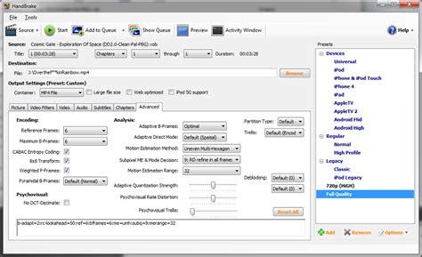 handbrake best quality transcoder handbrake presets en instellingen
