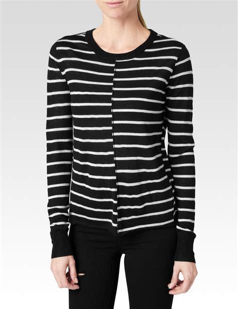 Sweater Stripe Black Gw44 stripe sweater in black lyst
