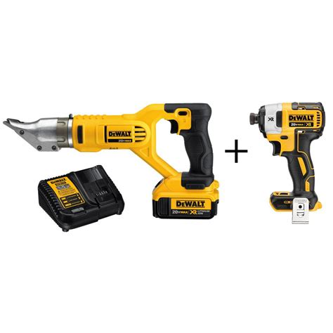 dewalt 20 volt max lithium ion 18 ga swivel metal shears