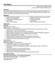 resume exle personal services sle