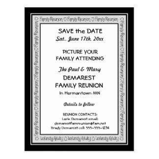 family reunion save the date cards templates family reunion gifts on zazzle