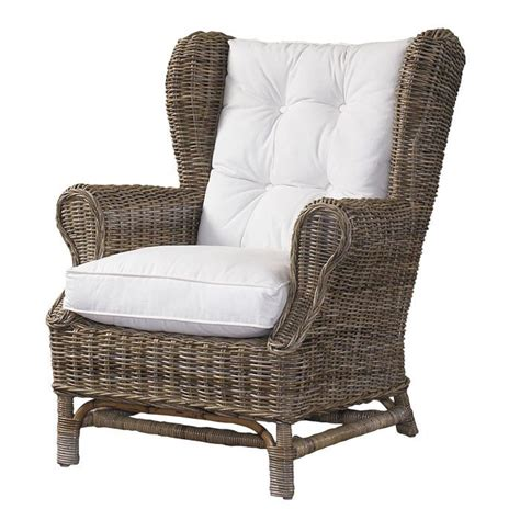 Wicker Armchair by Rattan Arm Chair Outdoor Living