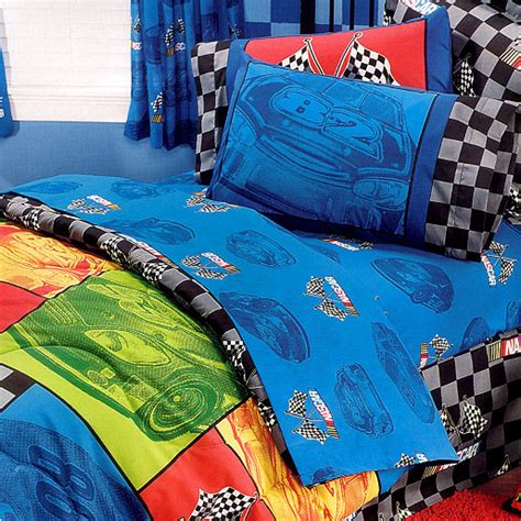 nascar bedding nascar in the race twin sheet set