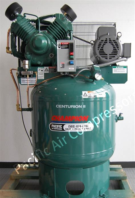 industrial 7 5 hp air compressor single phase low rpm usa made 25 8 cfm pacific air compressors