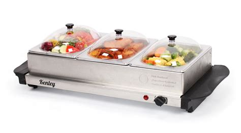 4 5l kenley 3in1 buffet server hot plate food warmer