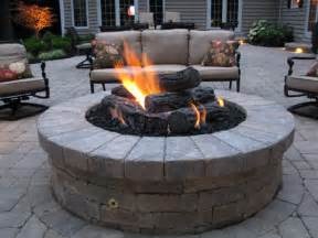 pit inspired concrete patio