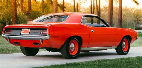 dish hubcaps 1970 hemi cuda with just 81 heads for auction classic car news