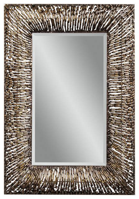 rectangle mirror metal spirals rectangle wall mirror eclectic mirrors by carolina rustica