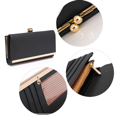 Purses Not Seen As A Clutch Performer by Agp1050a Black Lock Clutch Wallet Purses