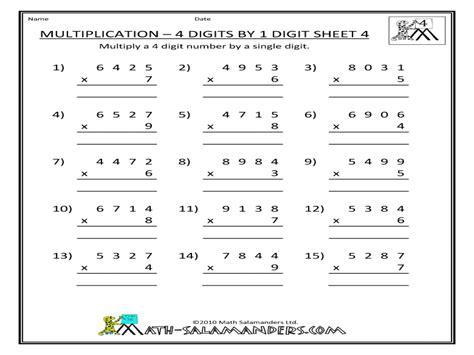 Digit Multiplication Worksheets by 4 Digit By 2 Digit Multiplication Boxfirepress