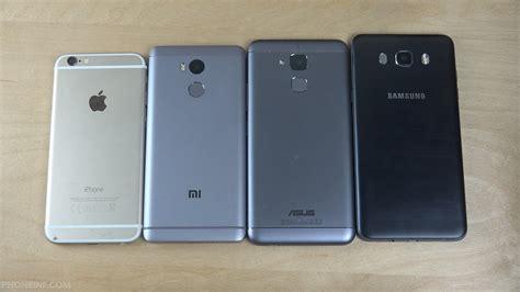 iphone 6 vs asus zenfone 3 max vs xiaomi redmi 4 prime vs samsung galaxy j7 speed test
