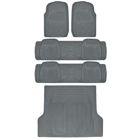 weatherplus rubber floor mats  liners cargo trunk mat heavy duty gear gray ebay