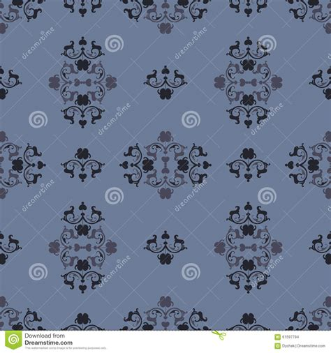 pattern in blue color heraldic pattern in blue color stock vector image 61597794
