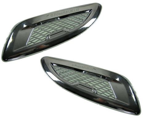 chrome range rover evoque chrome dummy bonnet vents range rover evoque pure prestige