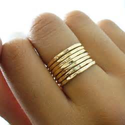 gold ring images for hammered gold ring 7 band set