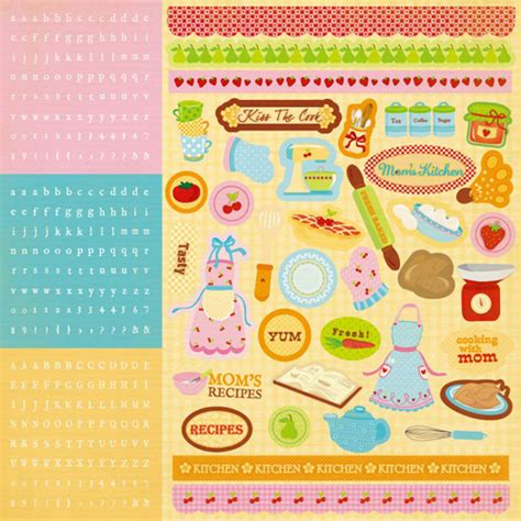 the kitchen collection inc best creation inc s kitchen collection glitter cardstock stickers combo