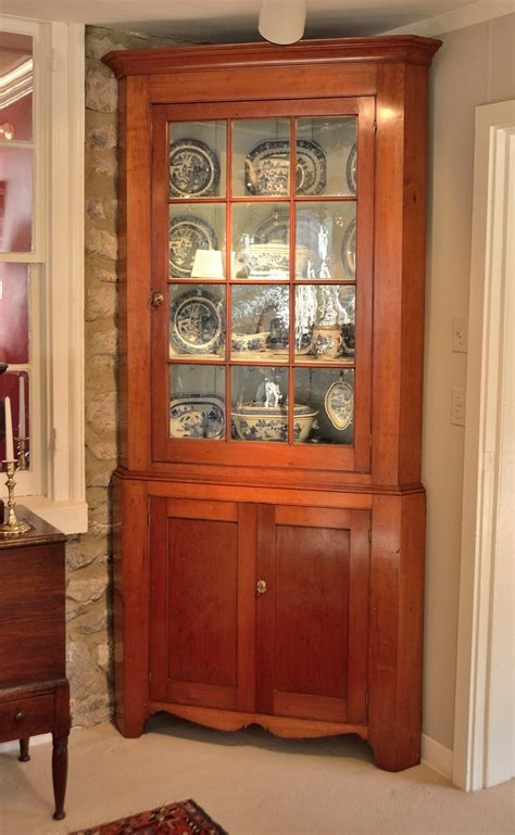 Early American Dining Room Furniture by Federal Cherry Corner Cupboard Sold Raymond James Antiques