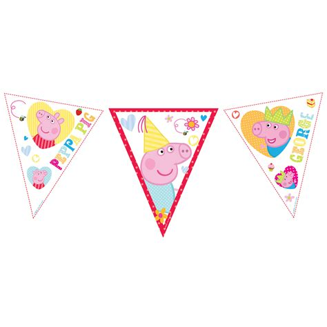 Peppa Pig Flag Birthday peppa pig flag bunting