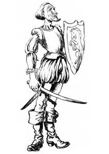 Don Quijote Masks Colouring Pages sketch template