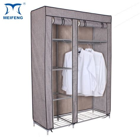 Cheap Fabric Wardrobes by Meifeng New Product Linen Fabric Cheap Foldable Wardrobe
