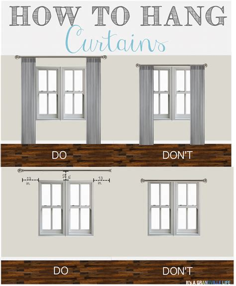 how hang curtains it s a grandville life thursday s tips tricks how to