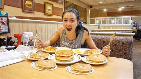 vs food pancake challenge all you can eat pancake challenge vs pancakes