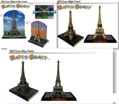 eiffel tower crafts for paper craft arts papercraft miniature eiffel tower