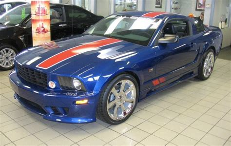 blue saleen mustang vista blue 2008 saleen american flag ford mustang coupe