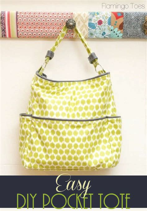 easy tote bag pattern with pockets easy diy pocket tote tutorial bags diaper bags and
