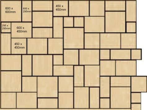 Patio Laying Patterns 4 Sizes by Slabbing Patterns