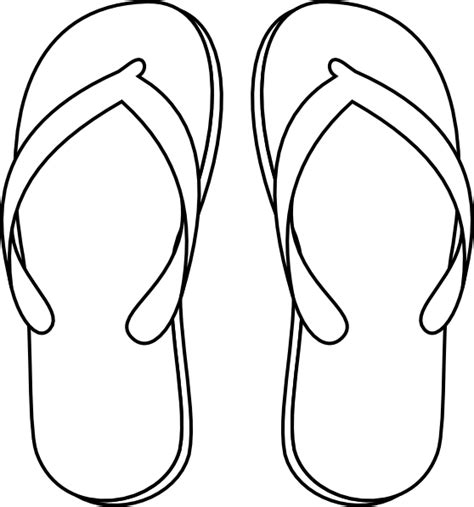 free coloring pages of flip flop template