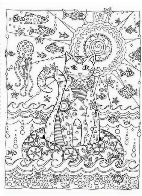 adult coloring pages cat 1 coloring pages pinterest matin lumineux coloriages chats