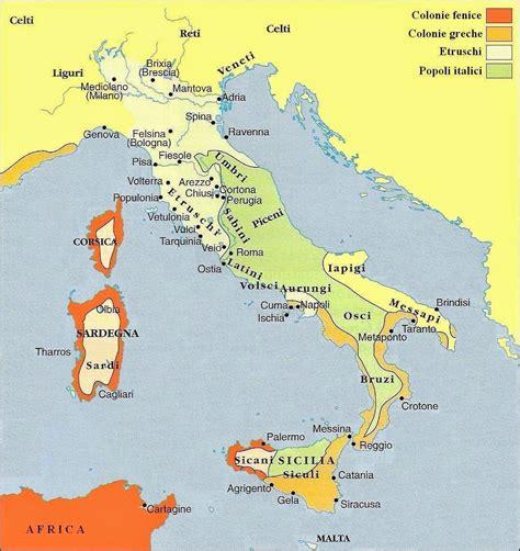 prima in italia imparare con la storia 9 la penisola italiana prima di roma